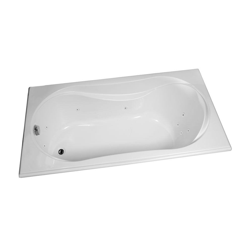 MAAX Velvet 5.5 ft. Whirlpool Tub with 10 Microjets in White