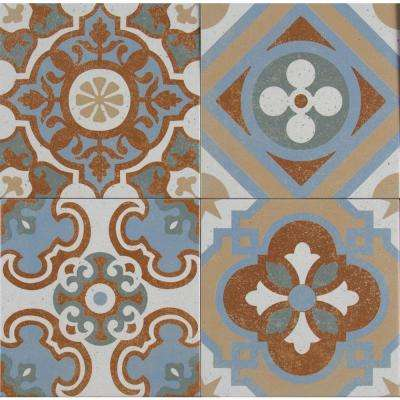 Anillo Encaustic 8 in. x 8 in. Glazed Porcelain Floor and Wall Tile (5.33 sq. ft. / case)