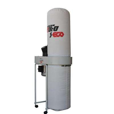 2 HP 1550 CFM 1-Phase, 110-Volt Vertical Bag Dust Collector
