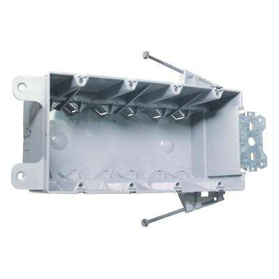 Slater New Work Plastic 4-Gang Steel Stud Bracket Box with Quick/Click