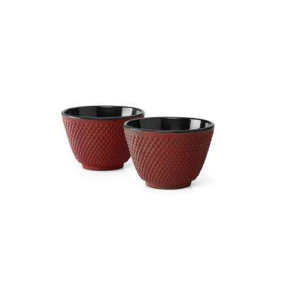Red Xilin Tea Mugs (Set of 2)
