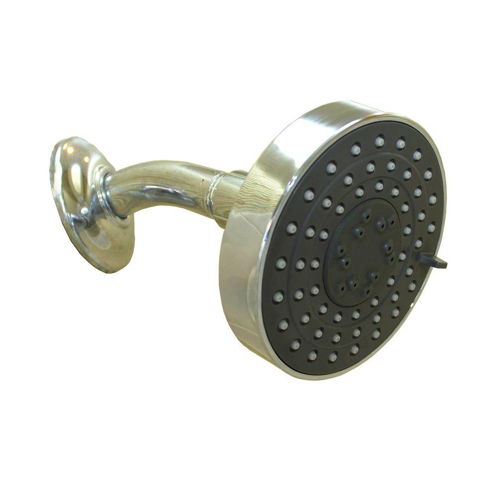 SPArific 3-Spray 4 in. Multifunction Top Showerhead in Chrome