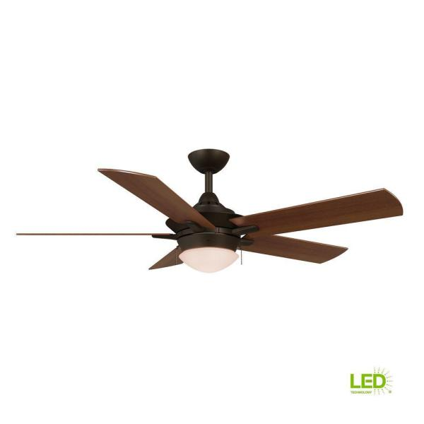 Edgemont 52 in. LED Indoor Espresso Bronze Ceiling Fan with Light Kit