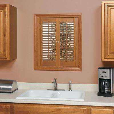 Traditional Faux Wood Oak Interior Shutter (Price Varies by Size)