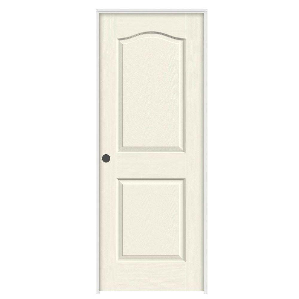 28 in. x 80 in. Camden Vanilla Painted Right-Hand Textured Solid