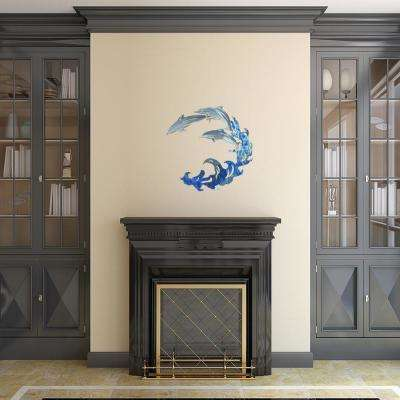 Large Dolphin Metal Wall Art