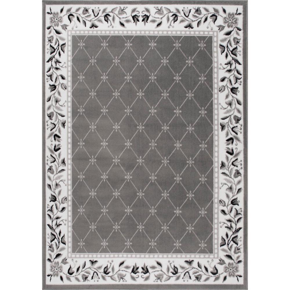 Premium Gray 7 ft. 8 in. x 10 ft. 7 in. Indoor Area Rug