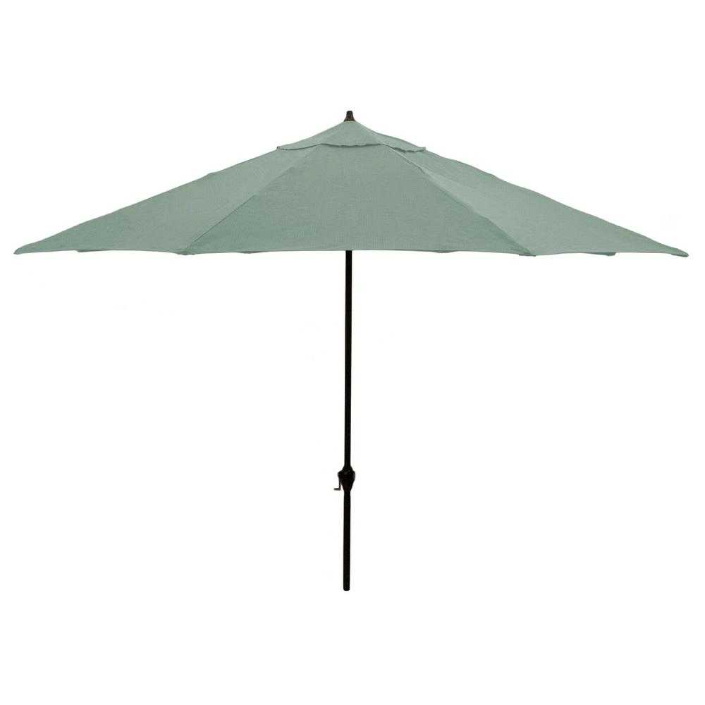 Aluminum Patio Umbrella in Spa  sc 1 st  Home Depot : aluminum patio umbrella - thejasonspencertrust.org