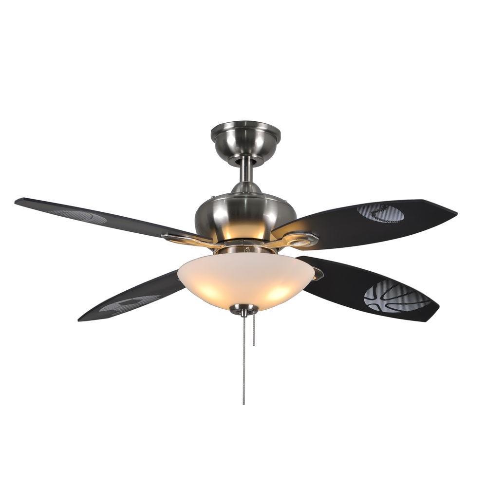Everstar II 44 in. Indoor Brushed Nickel Ceiling Fan with Light Kit