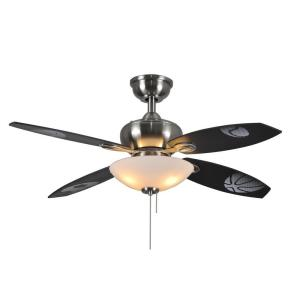 Hampton Bay Everstar II 44 in. Indoor Brushed Nickel Ceiling Fan with on