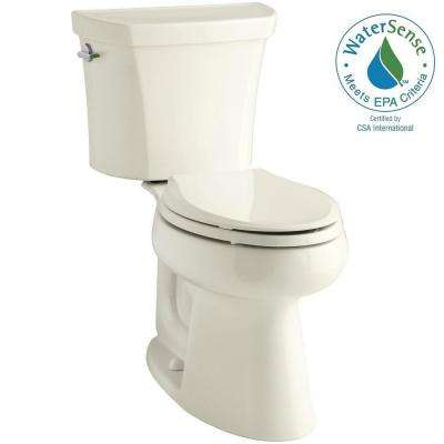 Highline 2-piece 1.1 or 1.6 GPF Dual Flush Elongated Toilet in Biscuit