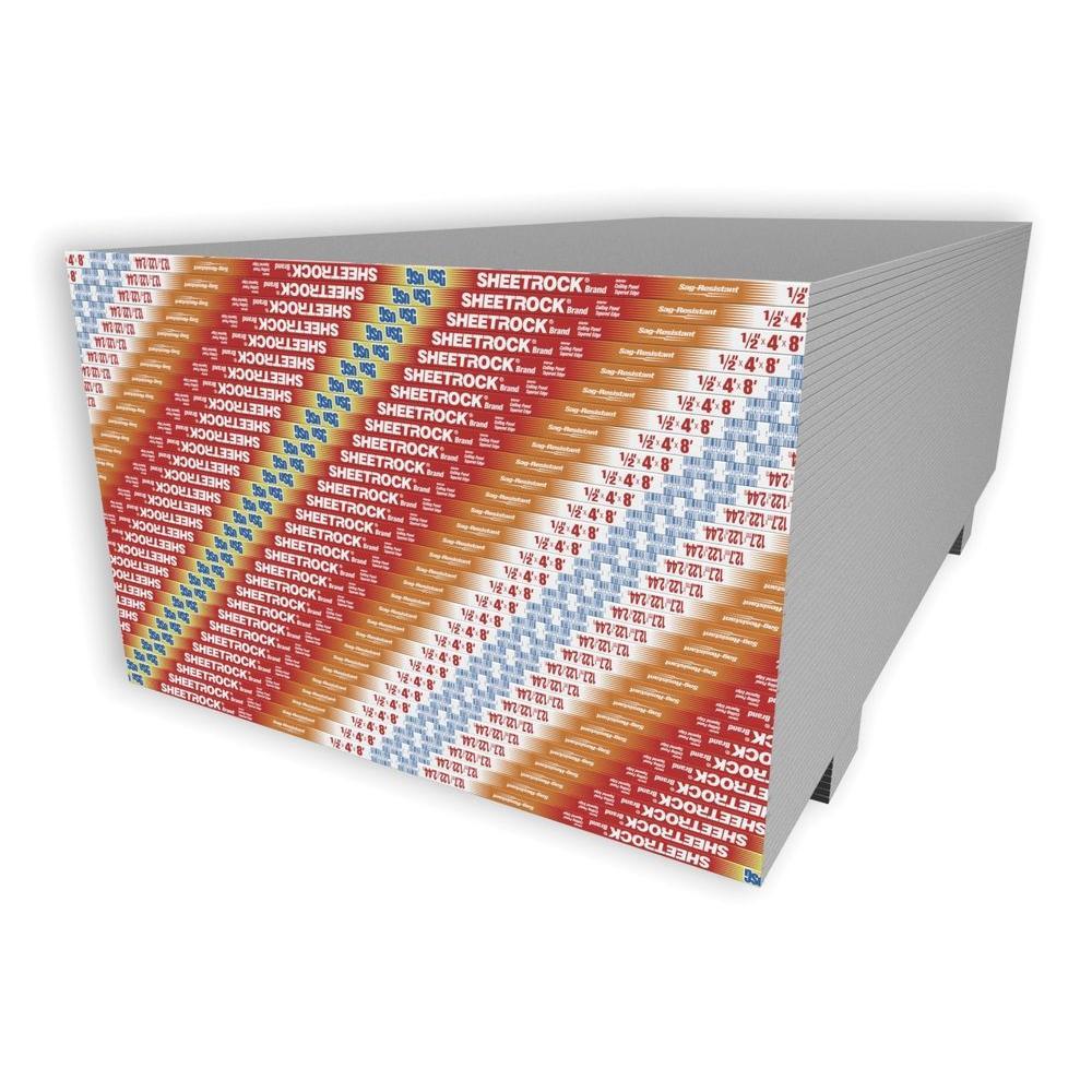 Usg Sheetrock Brand 1 2 In X 4 Ft X 12 Ft Gypsum Panels