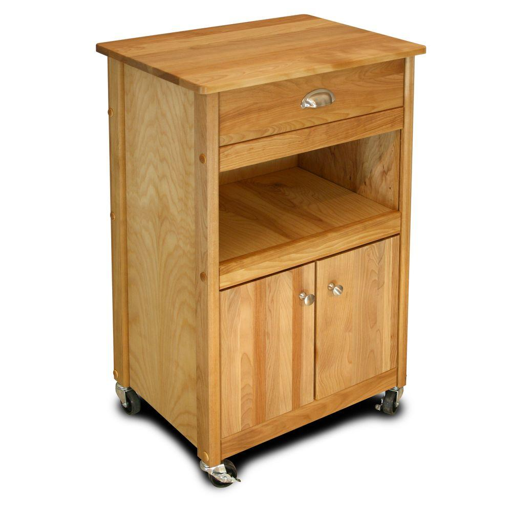Catskill Craftsmen Natural Kitchen Cart With Storage