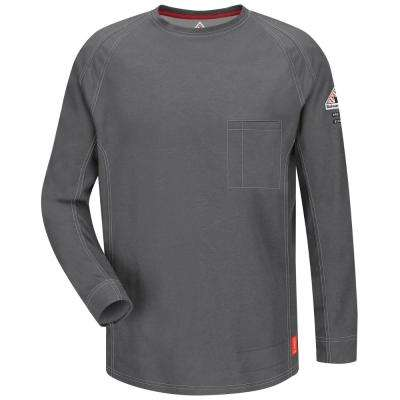 IQ Men's X-Large (Tall) Charcoal Long Sleeve Tee