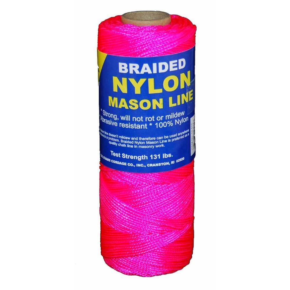 #1 x 1000 ft. Braided Nylon Mason in Line Pink
