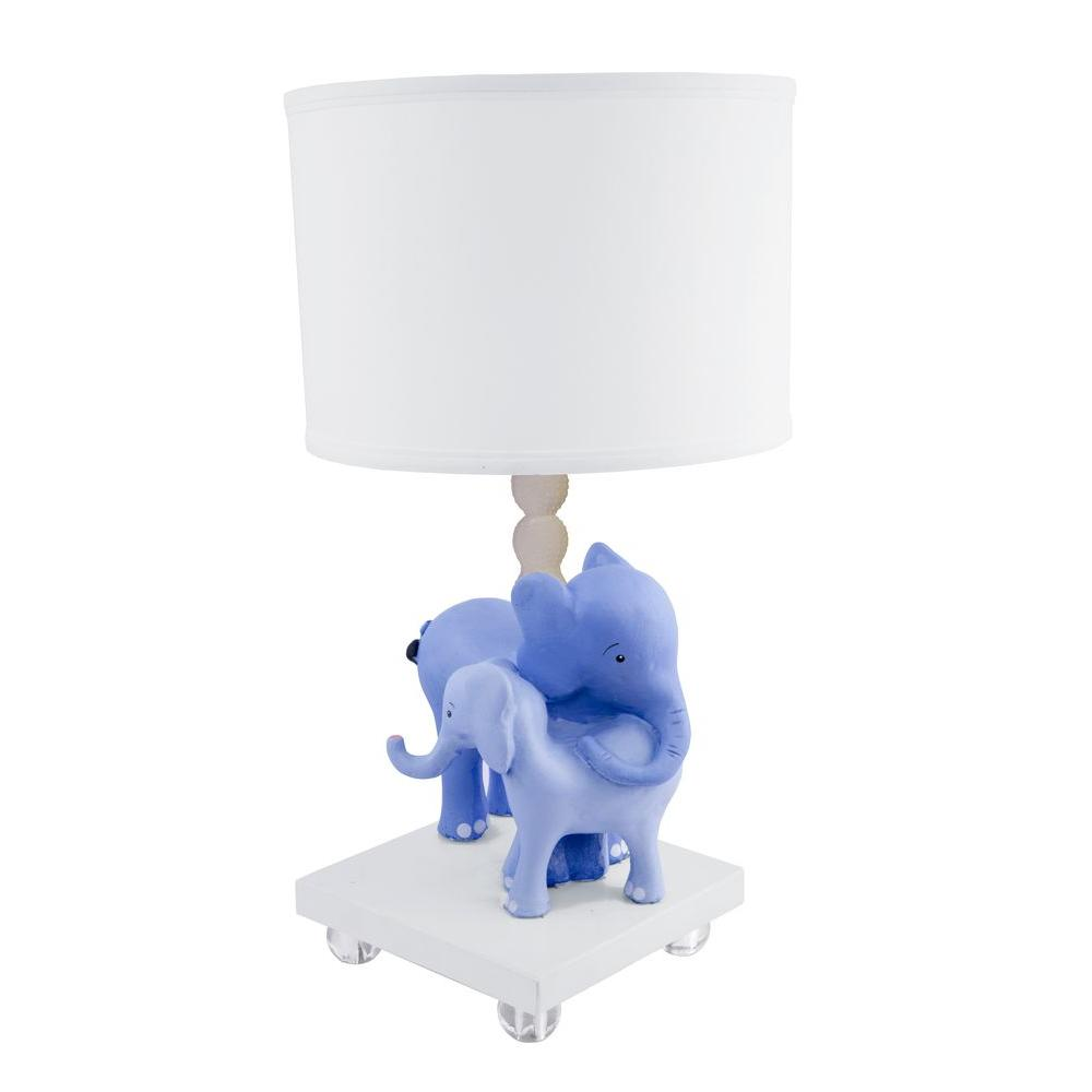 Sammy 16.85 in. White Elelove Table Lamp-DISCONTINUED