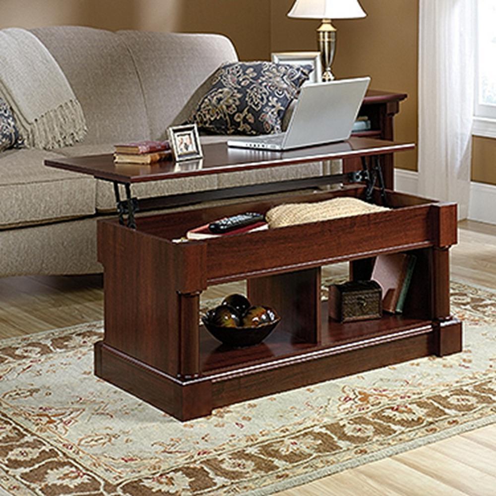 +5. SAUDER Palladia Select Cherry Lift Top Coffee Table