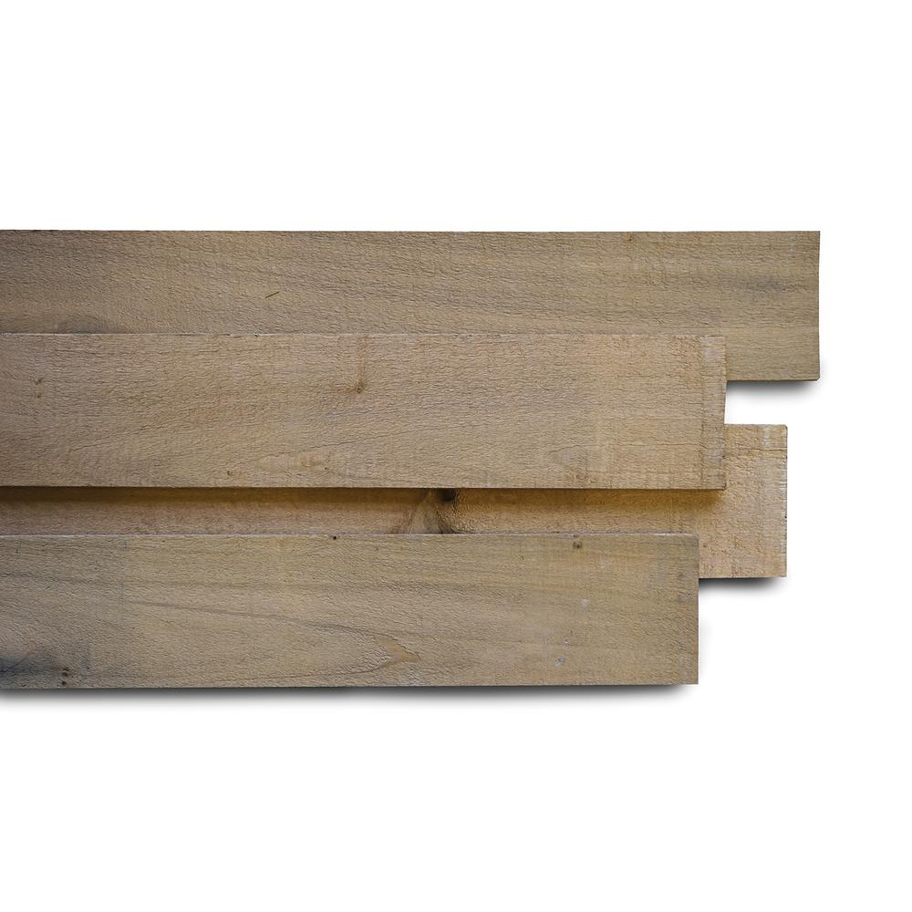 Weaber 1/2 in. x 4 in. x 4 ft. Wheat Poplar Weathered Board (8-Pack)