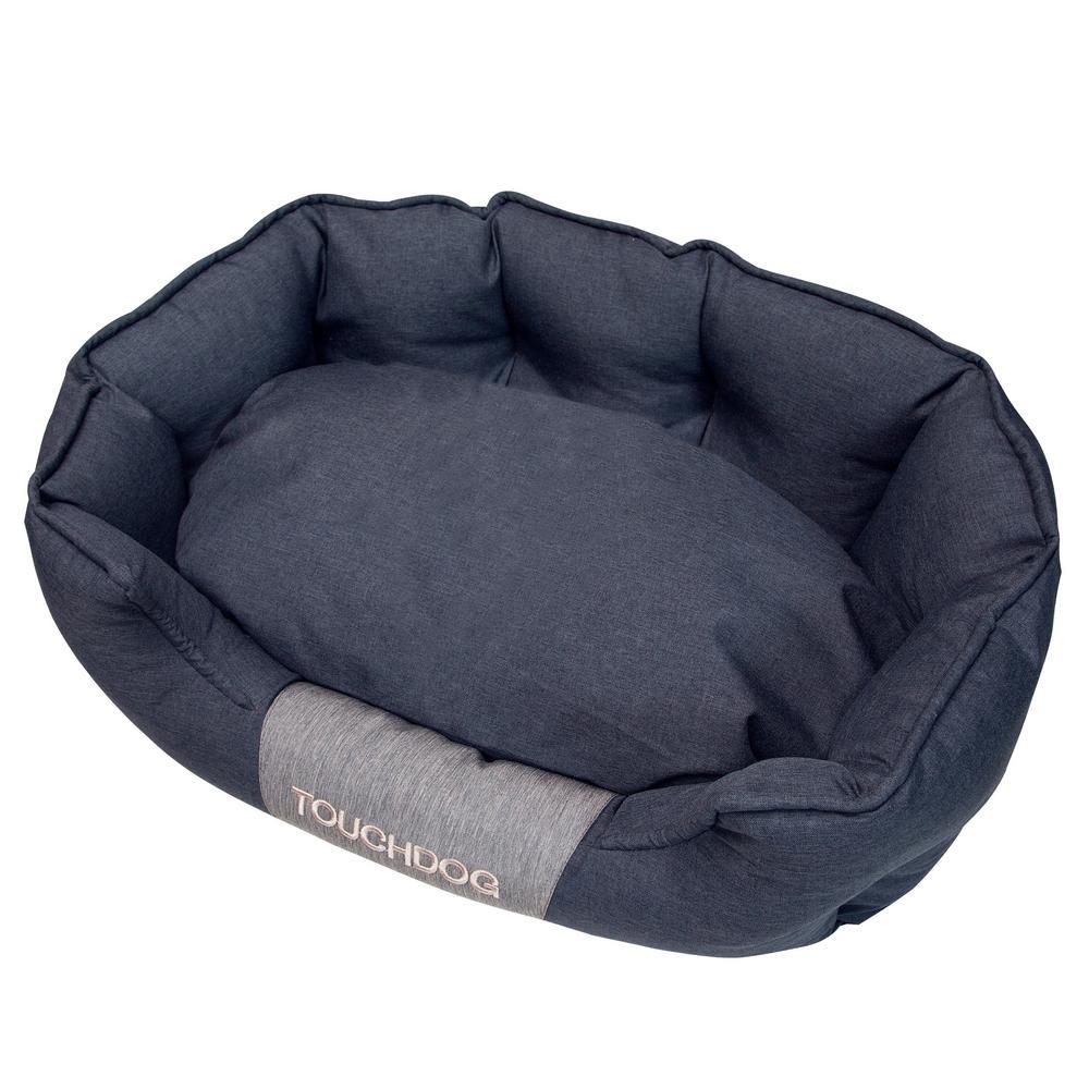 Large Black Concept-Bark Water-Resistant Premium Oval Dog Bed