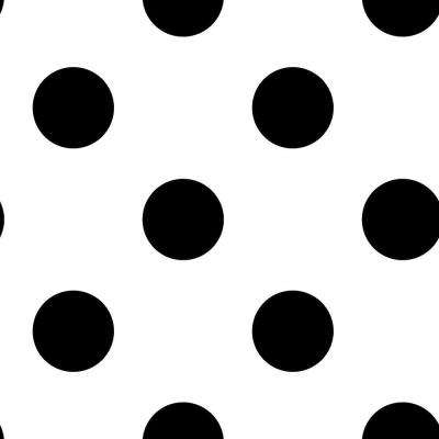 Black And White Dotty Removable Wallpaper