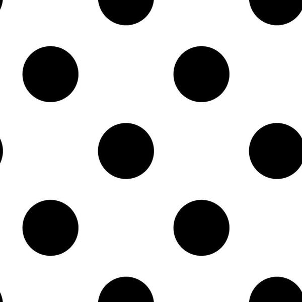 Graham & Brown Dotty Black and White Removable Wallpaper Sample 10010494
