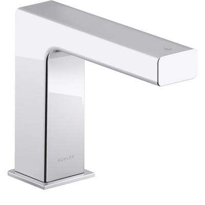 Strayt AC-Powered Single Hole Touchless Bathroom Faucet with Kinesis Sensor Technology and Mixer in Polished Chrome