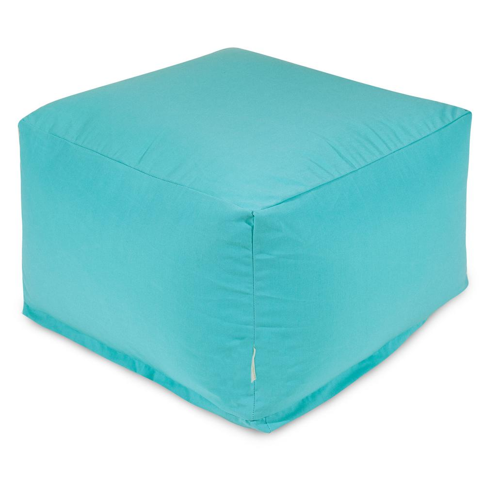 Majestic Home Goods Teal Solid Indoor/Outdoor Ottoman Cushion ...