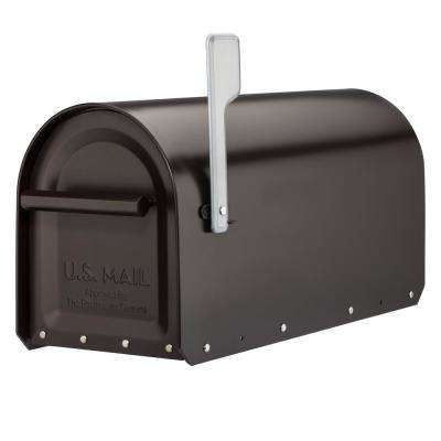 Sequoia Rubbed Bronze Heavy-Duty Post Mount Mailbox