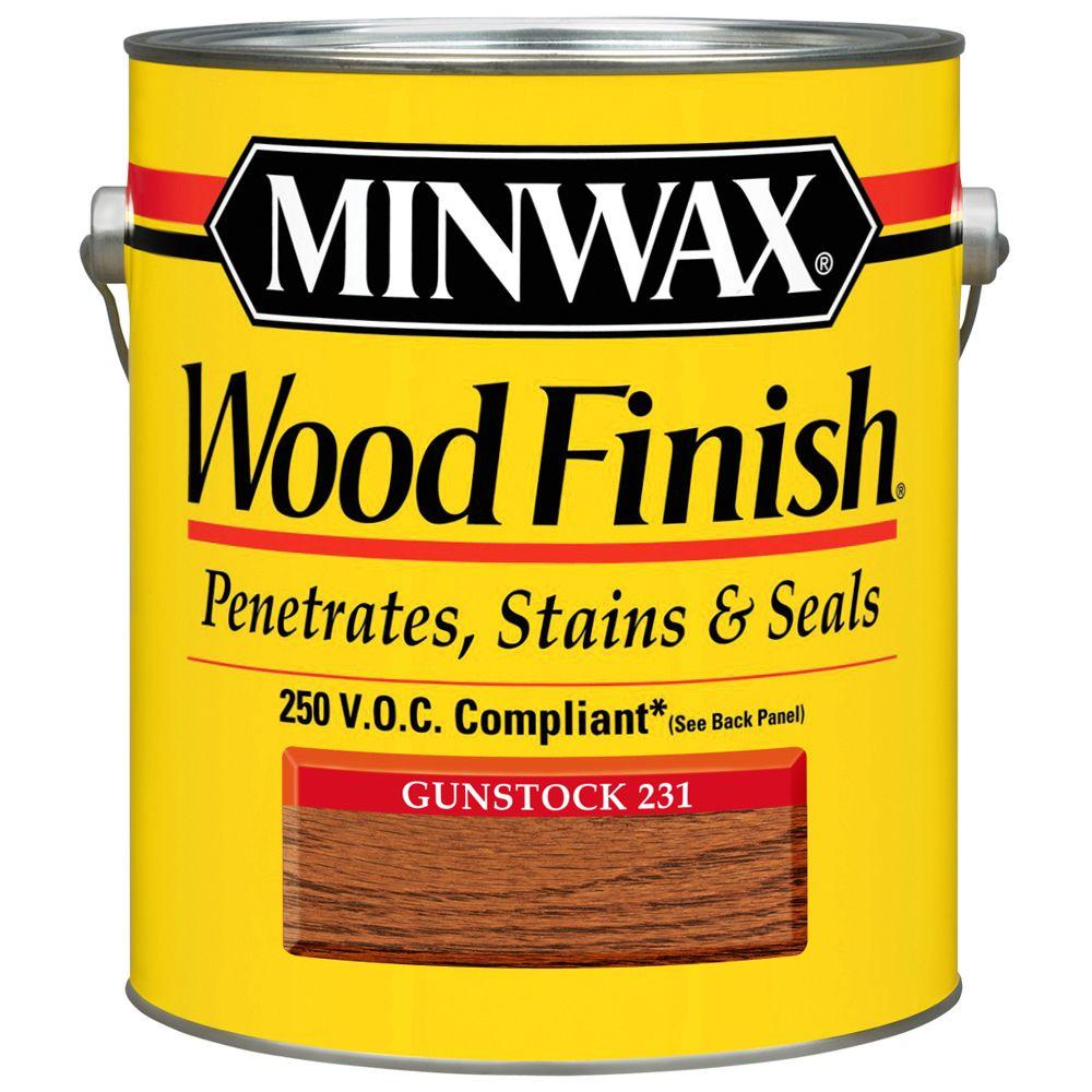 1 gal. Wood Finish Gunstock Oil Based Interior Stain 250 VOC