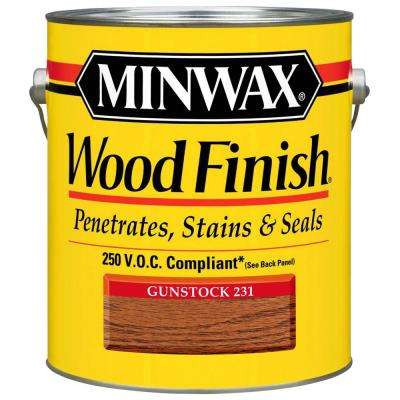 1 gal. Oil-Based Gunstock Wood Finish 250 VOC Interior Stain (2-Pack)
