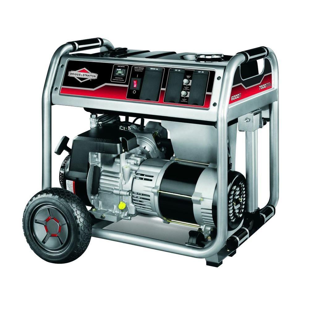 Briggs & Stratton 6,000-Watt Gasoline Powered Portable Generator