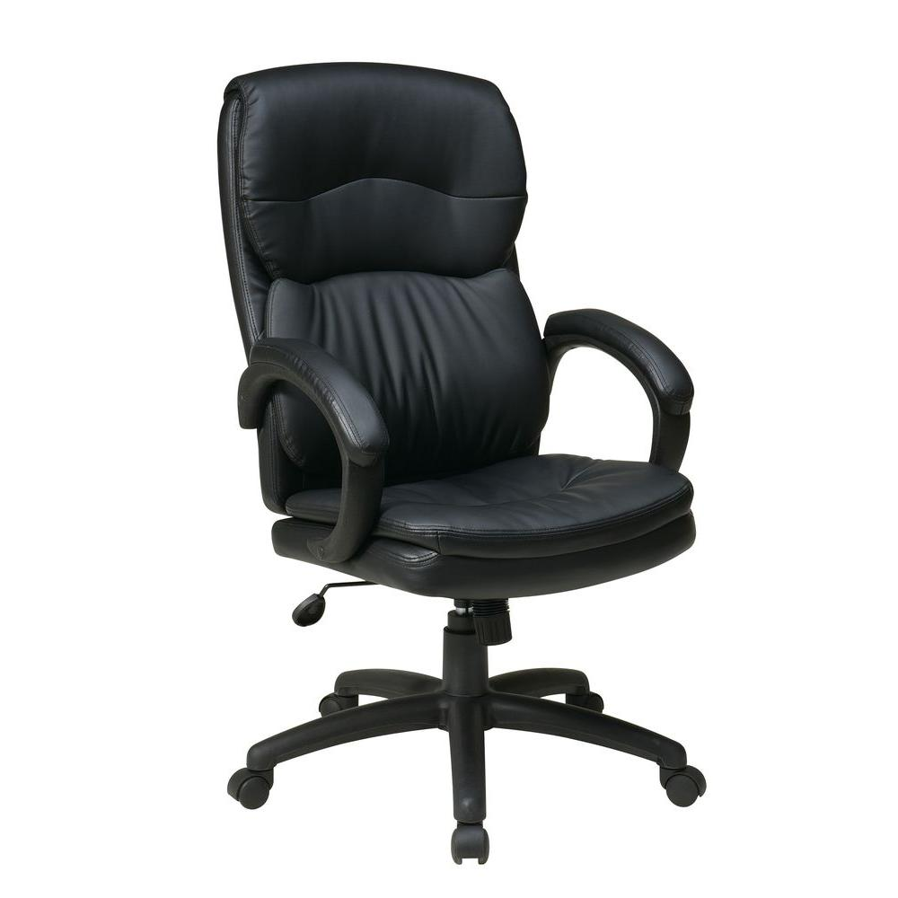 Black Eco Leather High Back Executive Office Chair
