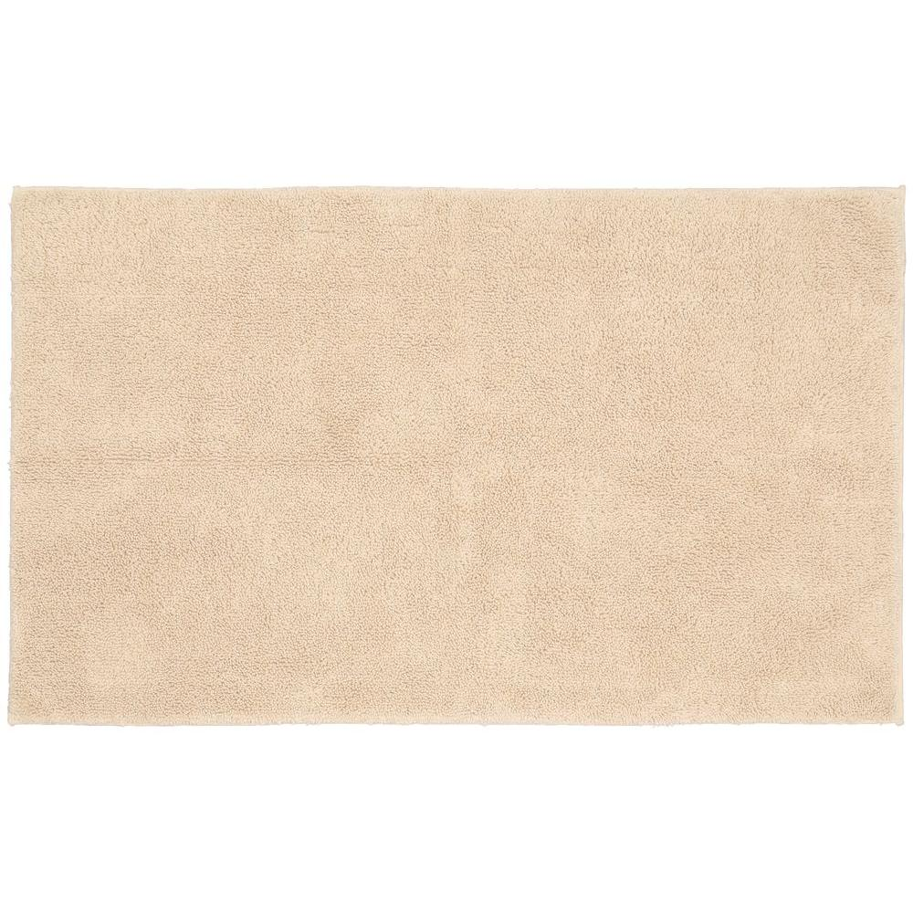 Garland Rug Queen Cotton Natural 30 in. x 50 in. Washable Bathroom Accent Rug