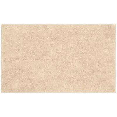 Queen Cotton Natural 30 in. x 50 in. Washable Bathroom Accent Rug