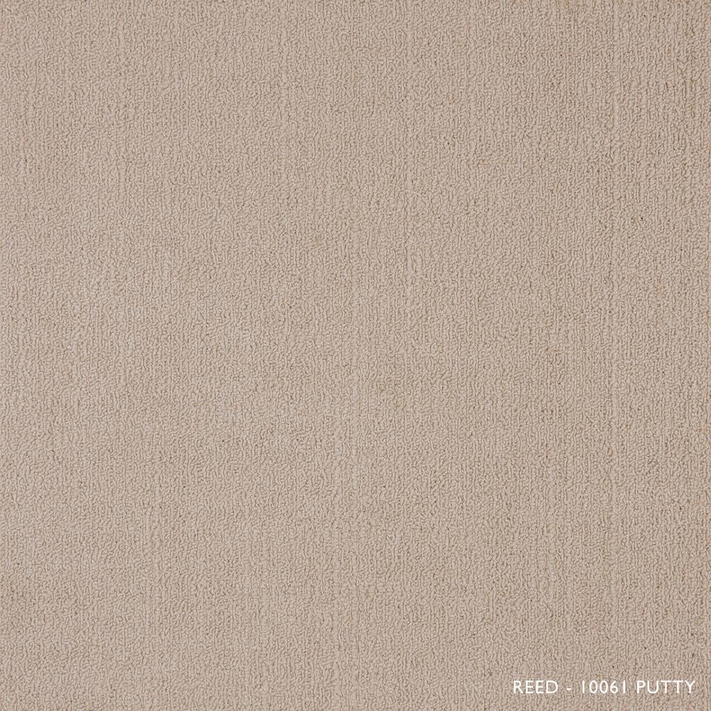 Reed Putty Loop 19.68 in. x 19.68 in. Carpet Tiles