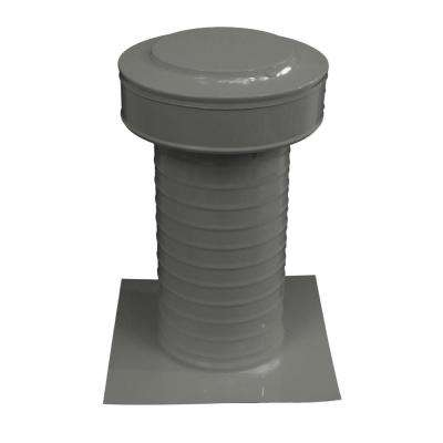 Keepa Vent 6 in. Dia Aluminum Roof Vent for Flat Roofs in Weatherwood