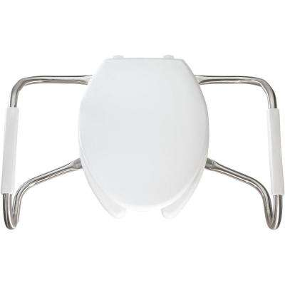 Medic-Aid STA-TITE Elongated Open Front Toilet Seat in White