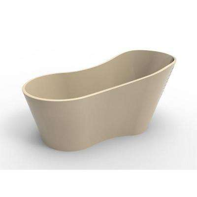Rodeo 5 ft. Solid Surface Flatbottom Non-Whirlpool Freestanding Bathtub in Almond