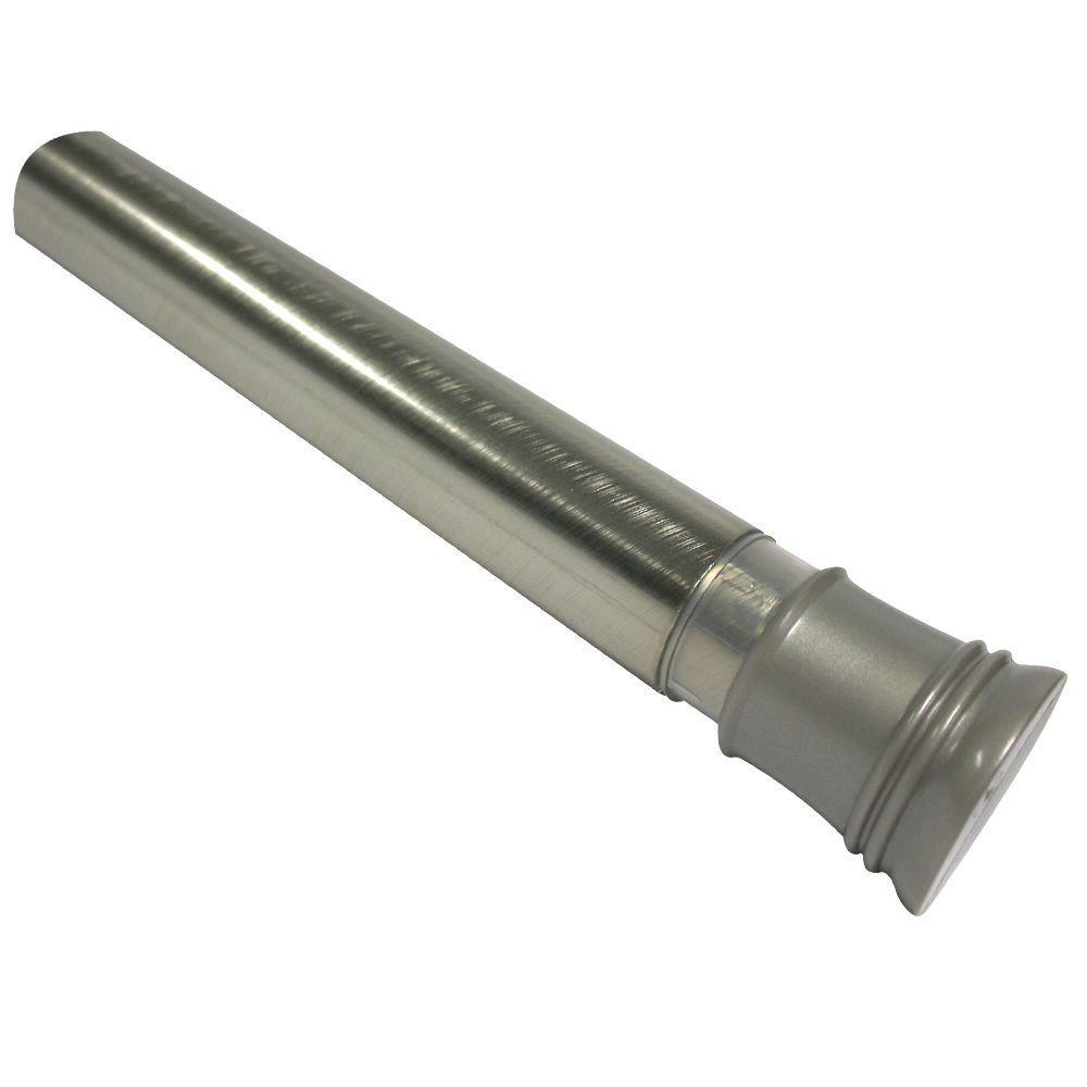44 in. - 72 in. Adjustable Tension No-Tools Shower Rod in Brushed Nickel