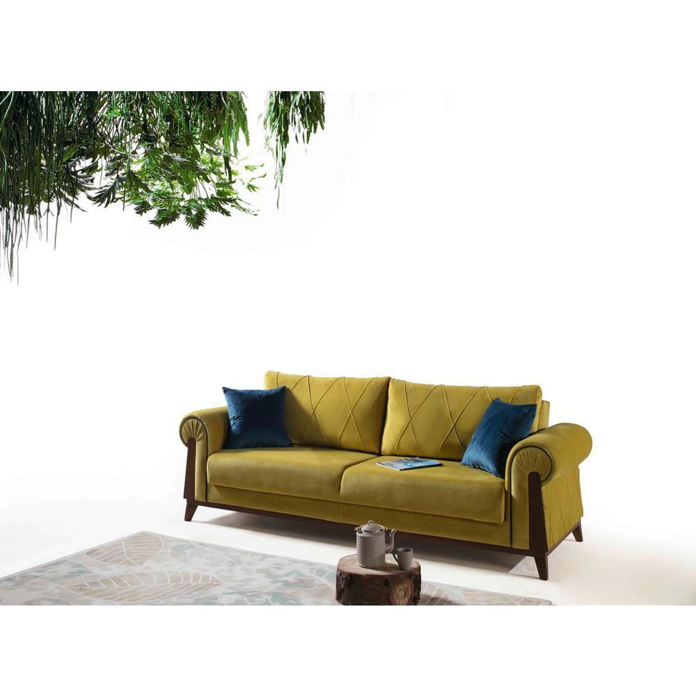 London Mustard Yellow/Pear Sofa