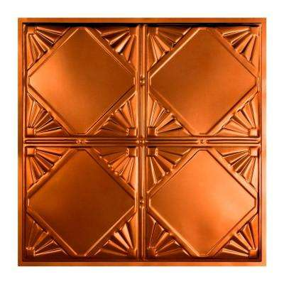 Erie 2 ft. x 2 ft. Lay-in Tin Ceiling Tile in Copper