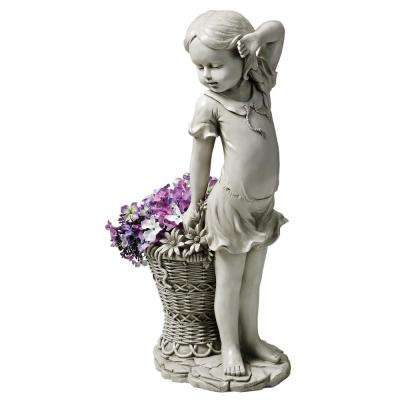21.5 in. H Frances the Flower Girl Statue