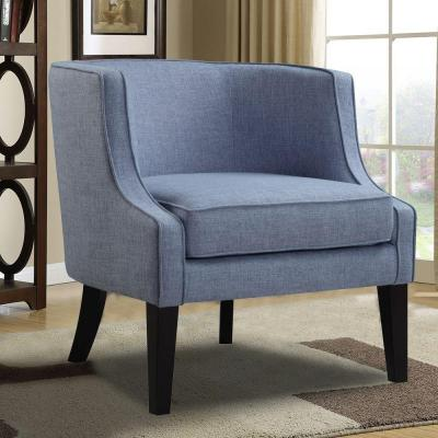 Blue Fabric Arm Chair