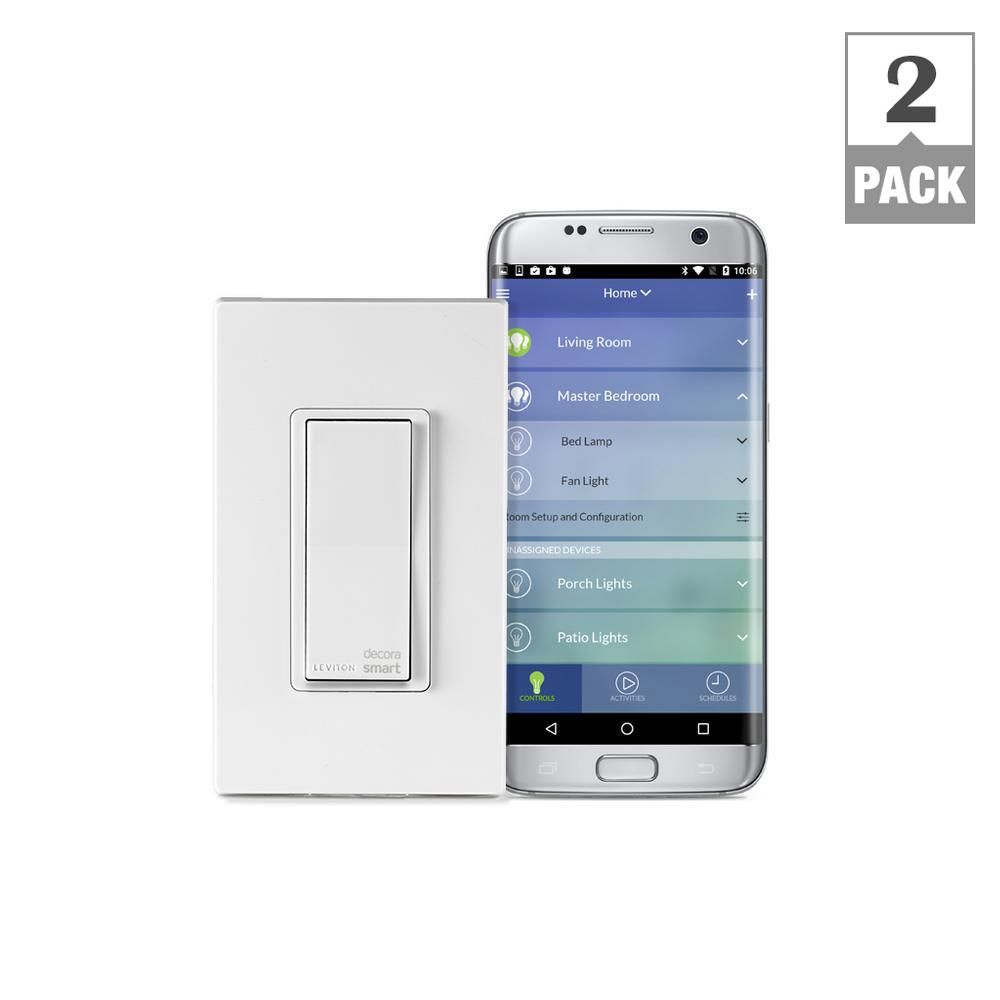 Decora Smart Wi-Fi 15 Amp Universal LED/Incandescent Switch, Works with Amazon