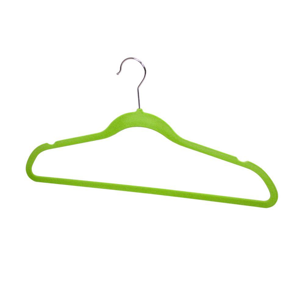 Green Velvet Hanger (10-Pack)