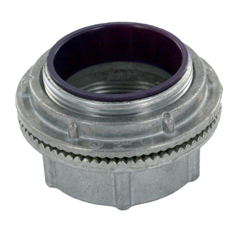 Watertight 2 in. Conduit Hub for use with Intermediate Metal Conduit (IMC) or Rigid Conduit, Zinc