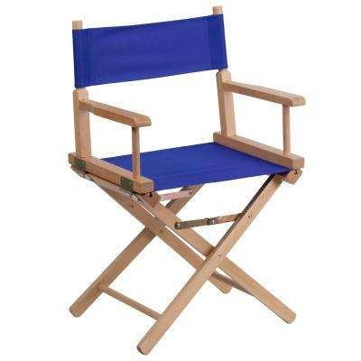 Standard Height Directors Blue Chair