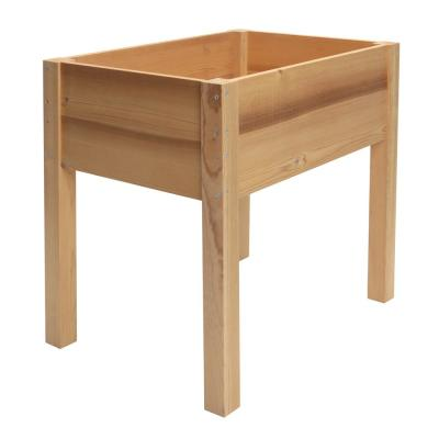 28 in. x 20 in. Thermally Modified Cedar Elevated Garden Bed Planter