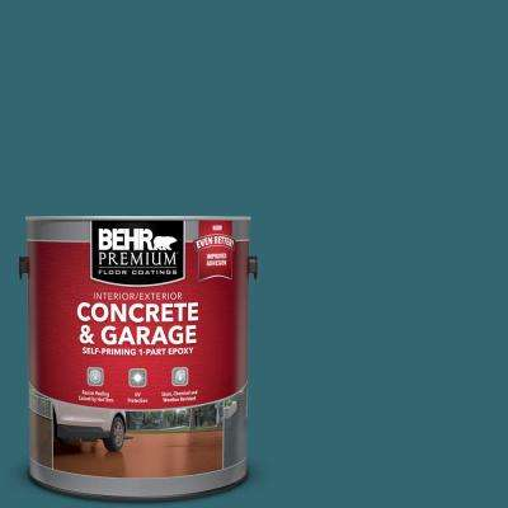 1 gal. #PFC-50 Mon Stylo Self-Priming 1-Part Epoxy Satin Interior/Exterior Concrete and Garage Floor Paint