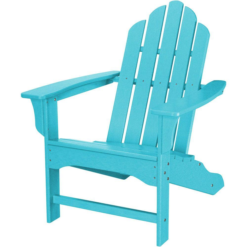 All-Weather Patio Adirondack Chair in Aruba Blue